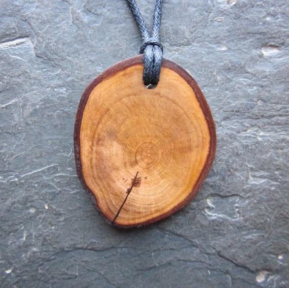 Natural Wood Pendant - Hawthorn - Dispels Negative Energy.