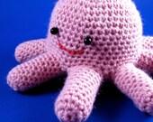 Ocho the Octoplush - Pink Crocheted Octopus Amigurumi Stuffed Animal Creature