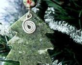 RESERVED Connemara Marble Ornament. Celtic Christmas Tree Decoration. Irish stone.