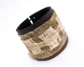Eco style leather bracelet. Leather jewelry