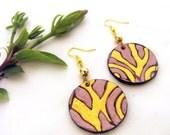 SALECircle leather earrings Fashion earrings