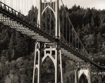 St. Johns Bridge - Portland Oregon -  Fine Art Photo - Archival Print