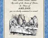 Vintage Feel Mad Hatter Tea Party Bridal Shower Invitations Any Colors Digital File - Fast