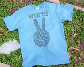 Peace tshirt - World Peace unisex DryBlend shirt  S,M,L,XL,2X / geek / gift for him / gift for her / save the world / peace fashion