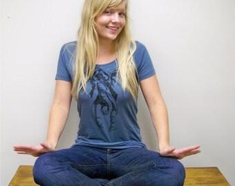 Womens t shirt / Elephant shirt - Women's Organic Alternative Apparel short sleeve scoop neck t shirt / gift for her / alabama shirt