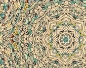 Central Park, décembre - compliqué Résumé Résumé imprimé coloré imprimer mandala design impression Giclée d'art