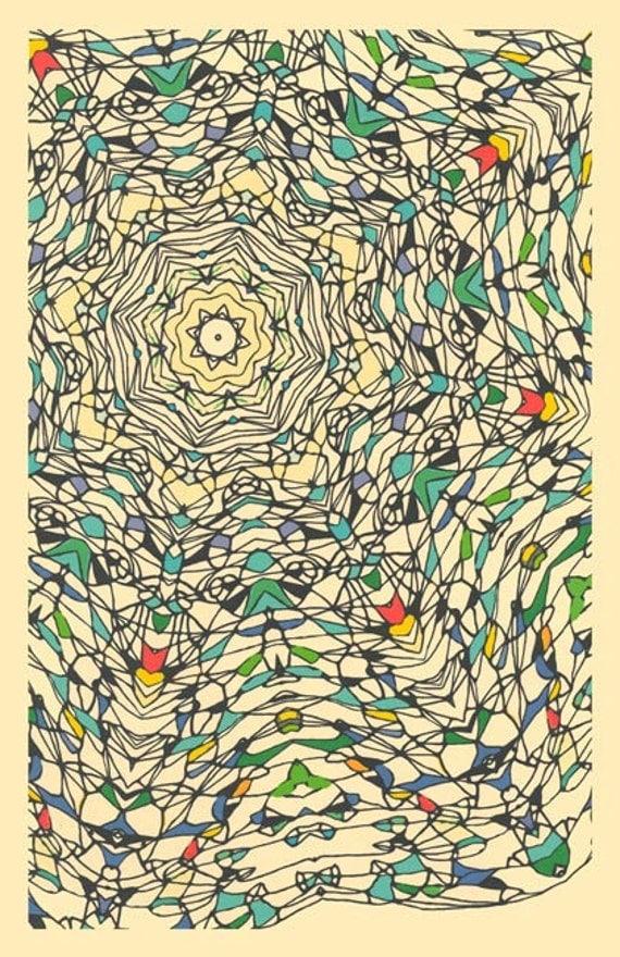 Central Park, December 3  - giclee art print abstract fine linear art print design kaleidoscope art print abstract geometric design