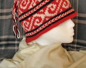 Red and White Swirl Design Hat