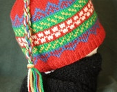 Scandinavian Colorwork Wool Hat