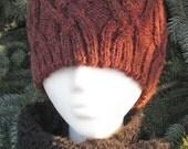 Fancy Cabled Hat - Size L