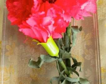 1940's Red Carnation Flower