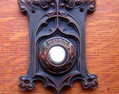 New Victorian Berry and Leaf Electric Doorbell Button