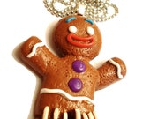 Gingerbread Man Gingy Shrek Necklace