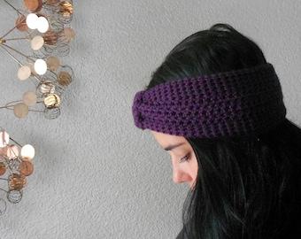 turban knot ear warmer / headband . eco friendly . vegan . PICK YOUR COLOR