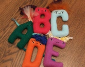 Made To Order - four handknit letters for Karli