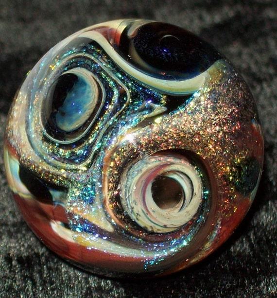 1 1 Inch Art Glass Dichroic Glass Chaos Vortex Glass Marble