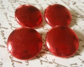 Last Set - Buttons - Shiny Red Fabric-Covered Buttons - Custom Fabric Buttons - Festive Covered Buttons - You Choose the Size