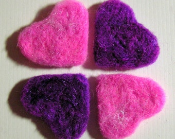Needle Felted Hearts -- You Choose the Colors