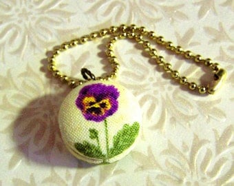 Customized Fabric-Covered Button Key Chain