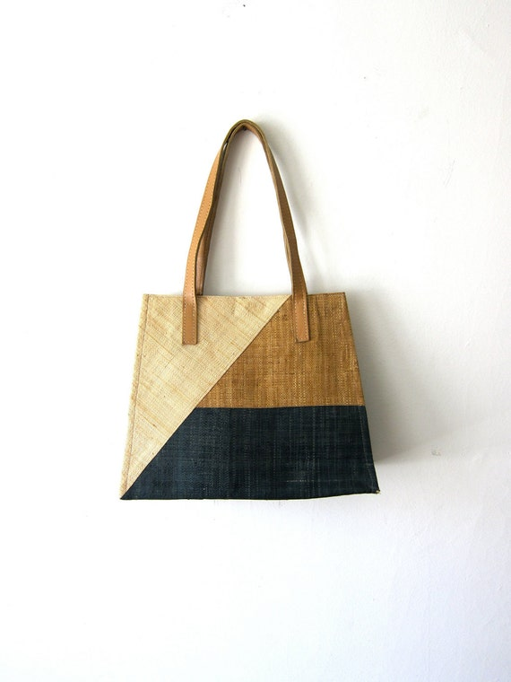 amazing woven color block 70 s purse