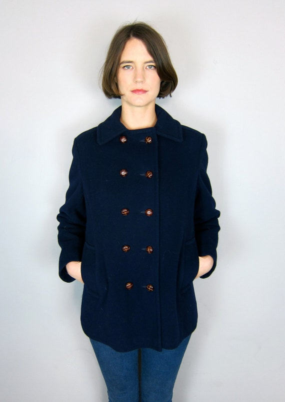Beautiful Navy Wool Peacoat