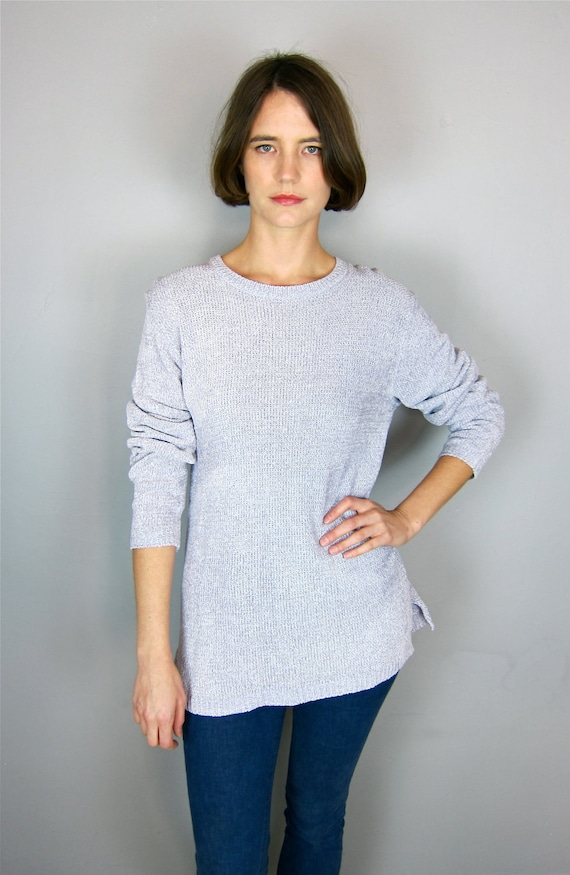 Soft Lavender Slouchy 90's Sweater