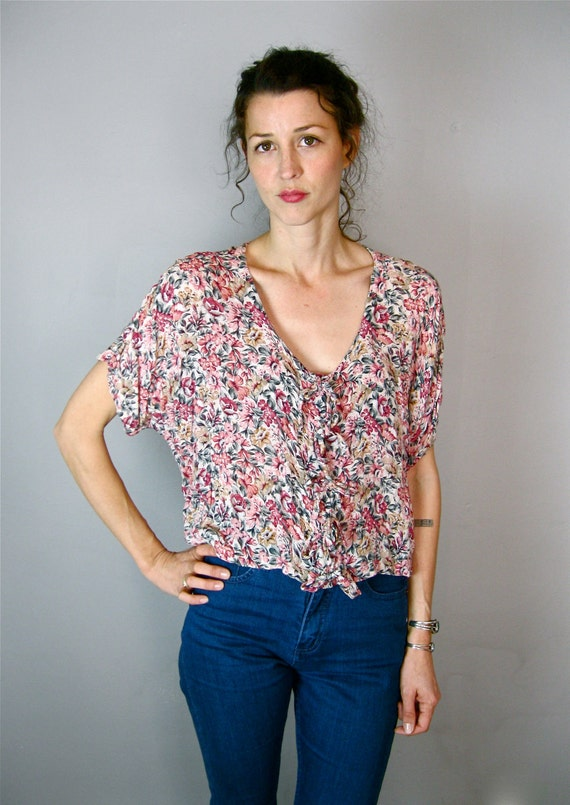 Soft and Slouchy Floral Crop Top