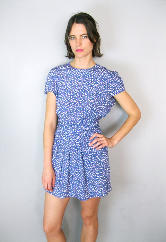 Pretty Periwinkle Floral Dress