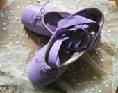 On hold for Sue til August DANUSHAROSE Vintage Magical Lavender Lilac Purple Ballet Pointe Toe Shoes