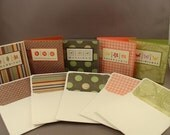 SALE -- Set of 5 hand stamped notecards with matching envelopes