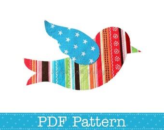 Bird Applique Template, Animal, DIY, Children, PDF Pattern by Angel Lea Designs, Instant Download
