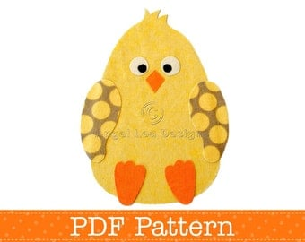 Chicken Applique Template, Easter Chick, DIY, Children, PDF Pattern by Angel Lea Designs, Instant Download