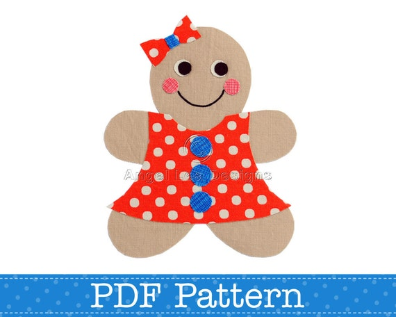 gingerbread girl applique template make your own