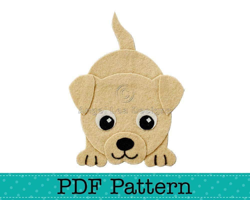 Puppy Dog Applique Template Diy Children Girl Boy Pdf