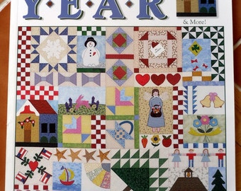 Leisure Arts The Quilted Year - 112 color pages