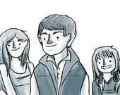 Custom Little Cartoon Family Portrait Simple