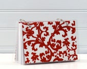 4 x 6 Index Card or Note Card Binder, Red Paisley