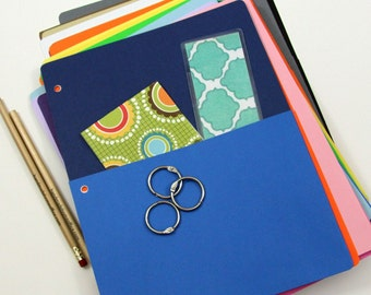 Cardstock Pocket for Notebook Binders and Journals