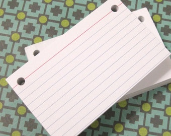 3  x 5 Index Cards or Note Cards, 100 count, Refill