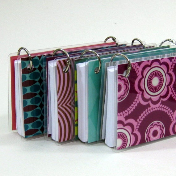 3 X 5 Index Card Or Note Card Binder Set Of Four Mod Squad