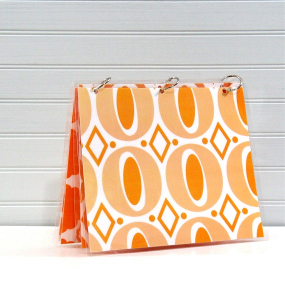 Binder Notebook, 9 x 11, Retro Orange