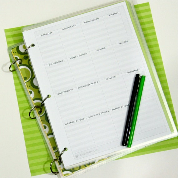 Planner Printables. 8.5 x 11 Personalized Set:  You Choose Five.