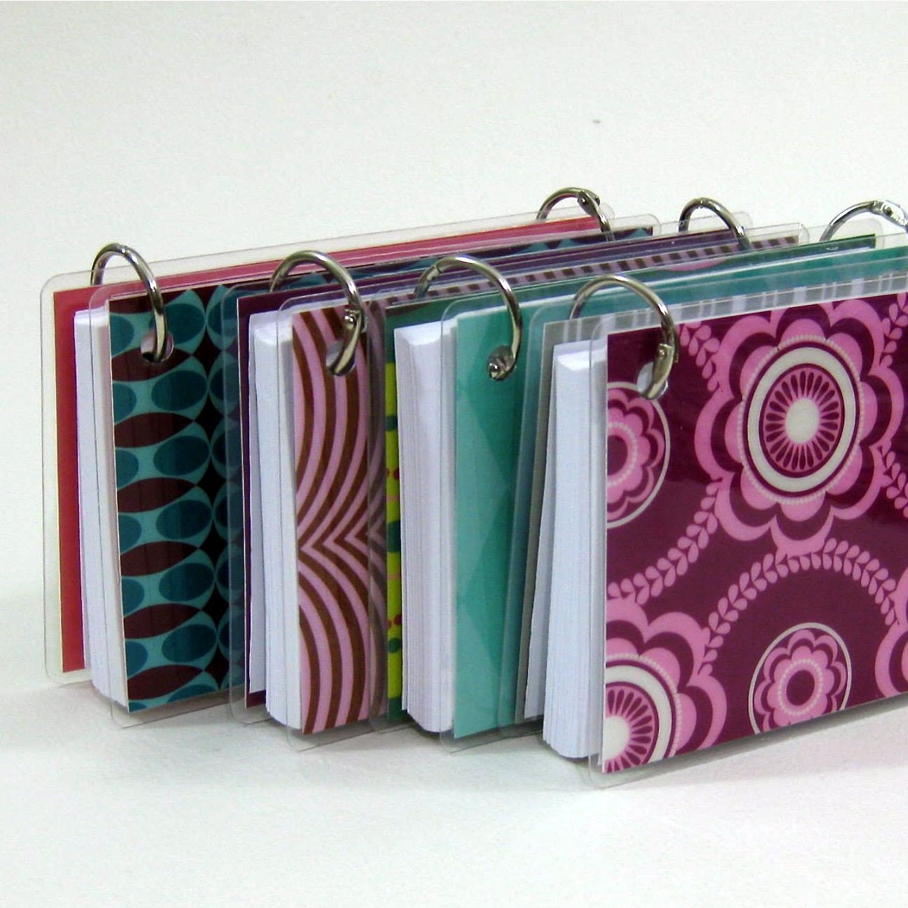 Printing On Index Cards: 3 X 5 Index Card Or Note Card Binder Set Of Four Mod Squad