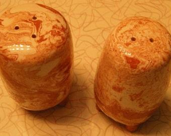 Agateware salt and pepper shaker