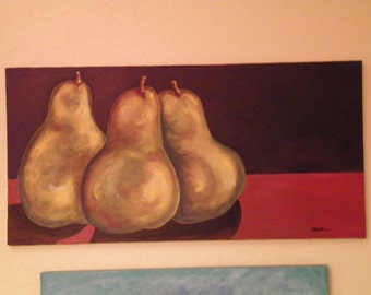 Pear Still Life- Three Ladies