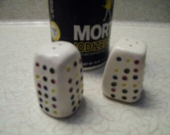 Colored Dots Salt and Pepper Shakers