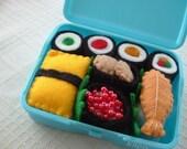 Felt Food - Blue Mini Box of Sushi