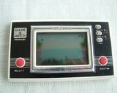Retro Vintage Nintendo Handheld Game and Watch Turtle Bridge  With Instructions