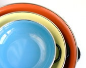 Vintage Enamel Paella Pans