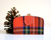 Vintage Red Plaid Wallet